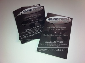 Cartes de visite magasin de quad