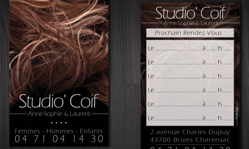 cartes de rendez-vous coiffeur StudioCoif