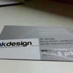 carte de visite nk design recto vernis sélectif