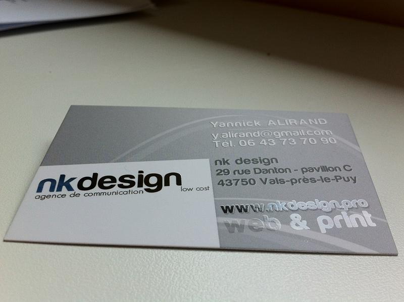 Carte De Visite Nk Design Recto Vernis Selectif