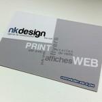 carte de visite nk design verso vernis sélectif