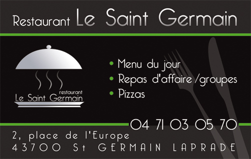 carte restaurant siant germain
