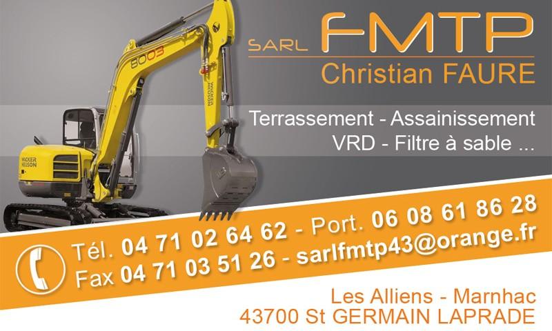 carte de visite travaux publics FMTP le Puy