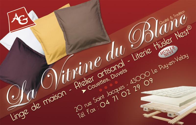 Carte De Visite La Vitrine Du Blanc Le Puy En Velay