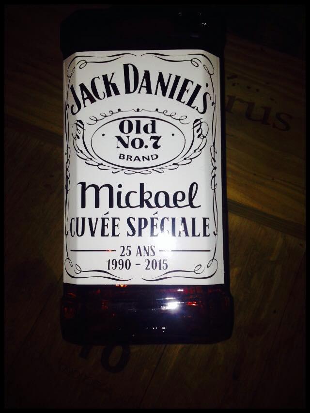 Bouteille De Whisky Jack Daniel'S Personnalisée