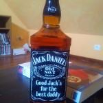 Bouteilles personnalisée Jack Daniel's fête des pères