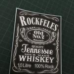 Bouteille personnalisée Jack Daniel's anniversaire
