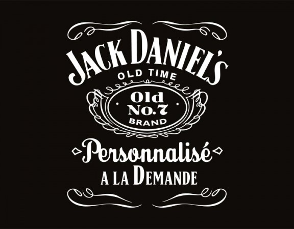 bouteille de whisky jack daniel 39 s personnalis e. Black Bedroom Furniture Sets. Home Design Ideas