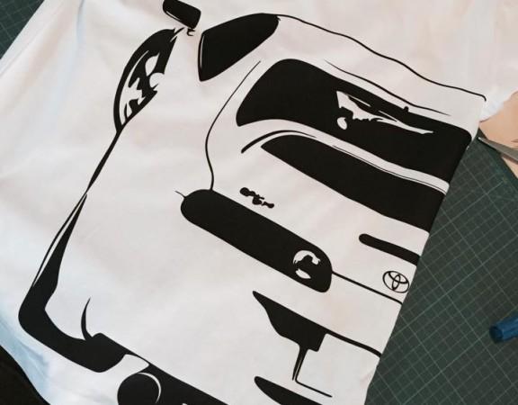 flocage tee shirt yoyota supra